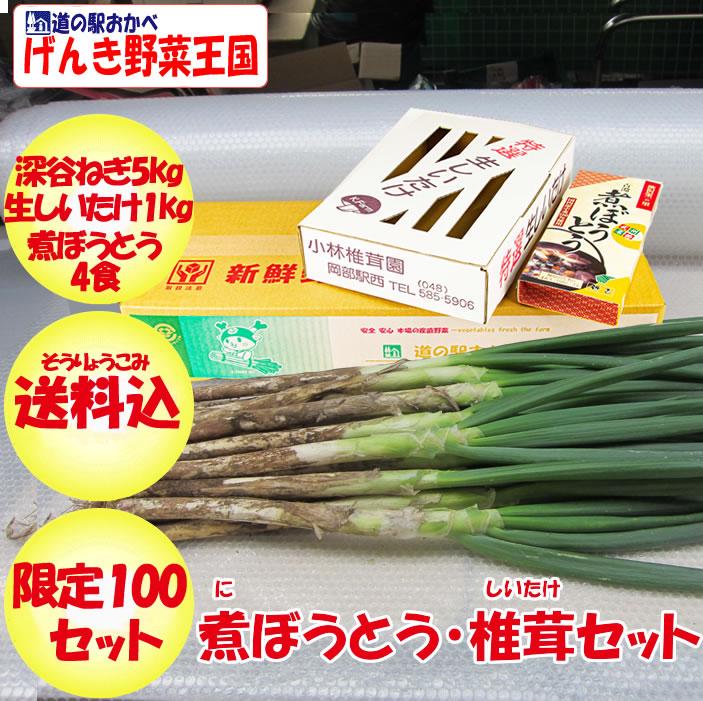 煮ぼうとう・椎茸セット